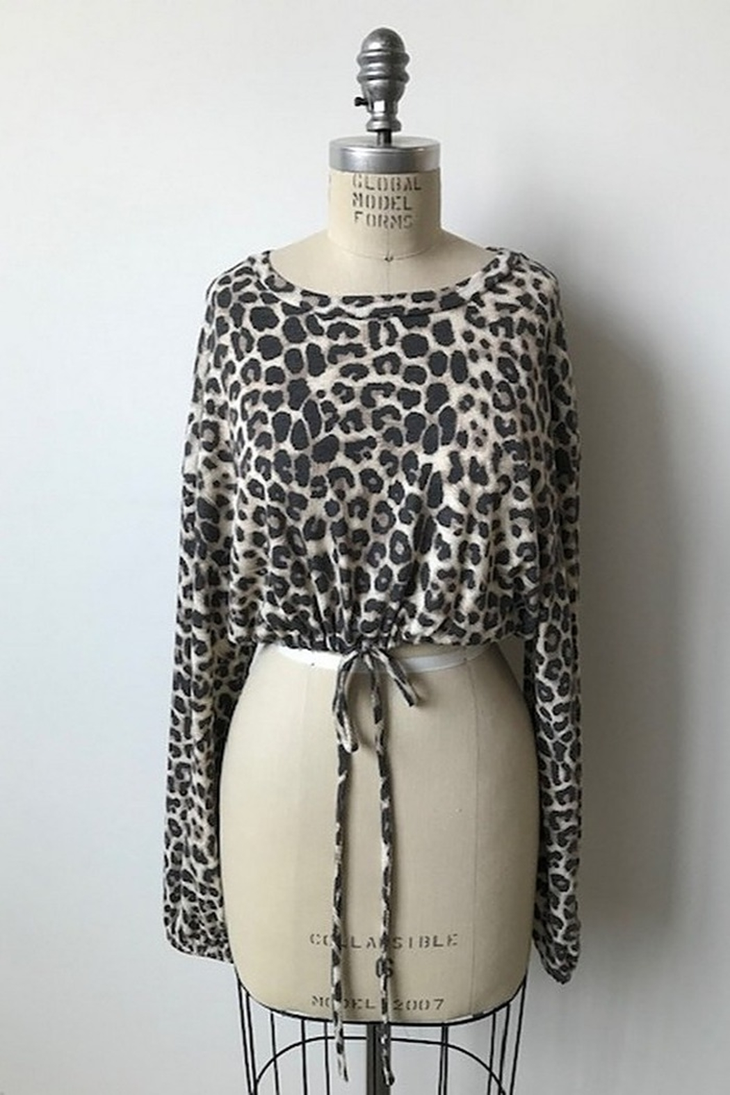 Audrey 3+1 Leopard Bell Sleeve Top - Main Image