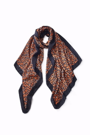 Look by M Leopard Blanket Scarf - Front cropped