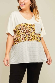 Lyn-Maree's  Leopard Block Tee - Front cropped
