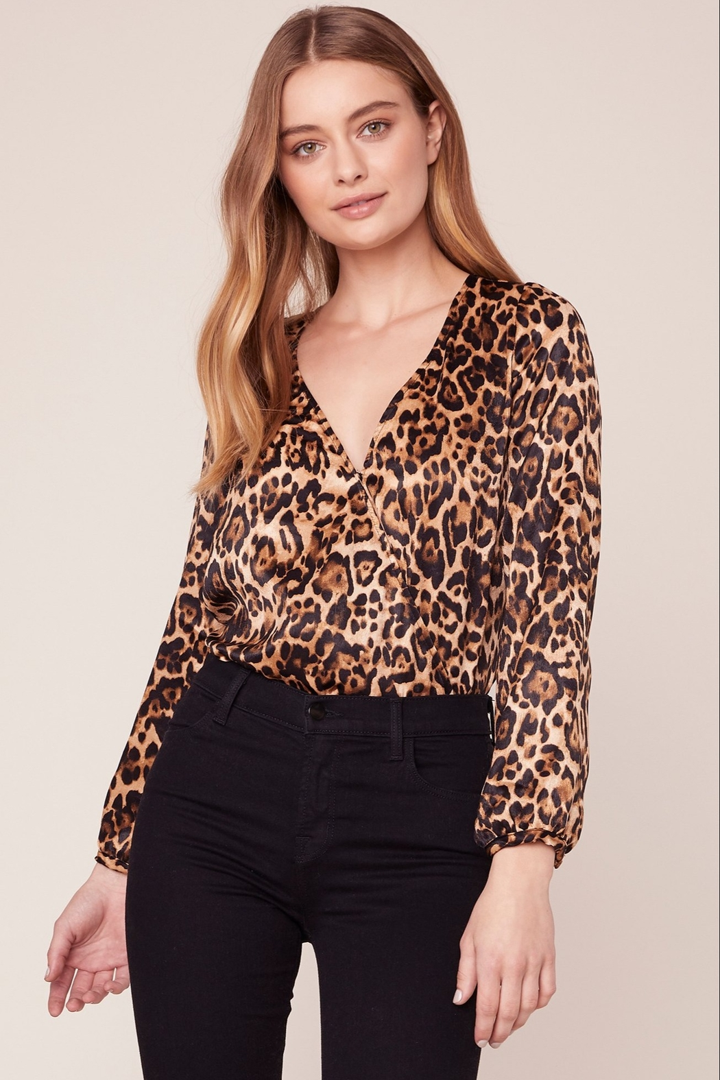 BB Dakota Leopard Bodysuit - Front Cropped Image