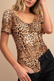 ee:some Leopard Bodysuit - Front cropped