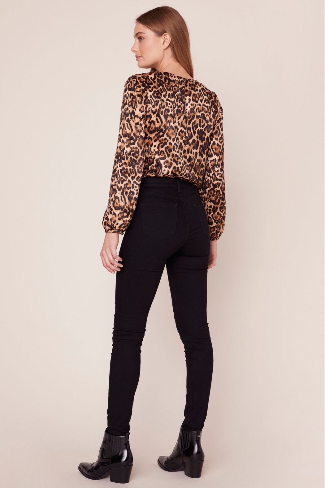 BB Dakota Leopard Bodysuit - Front Full Image