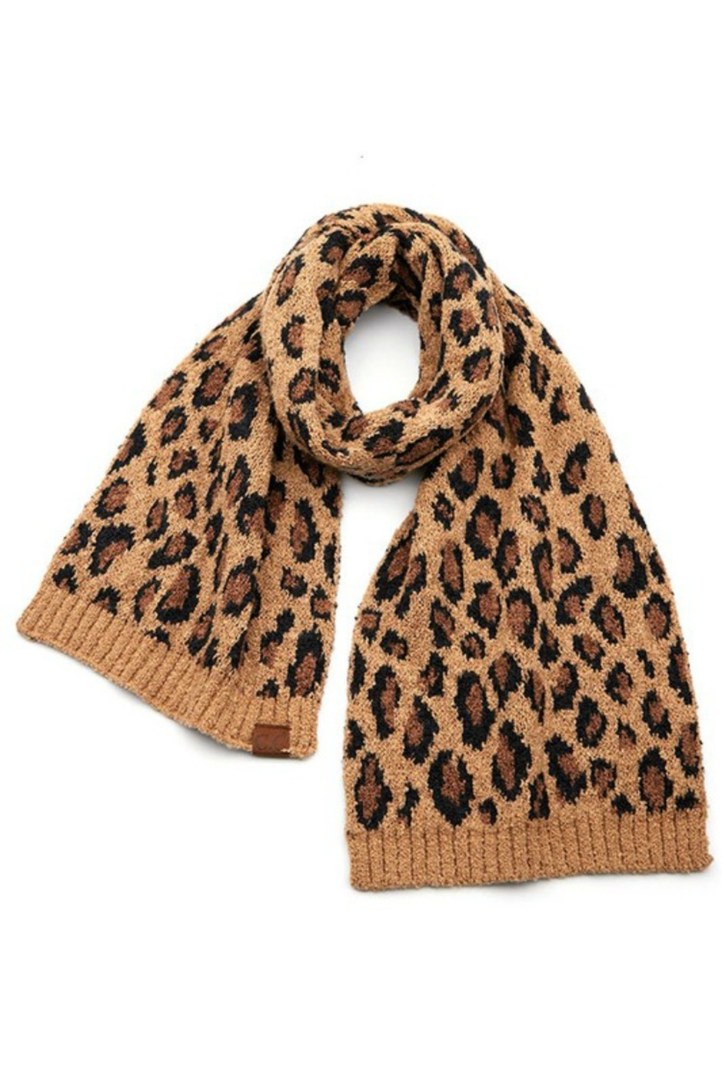 Susan Ankerson Leopard Boucle Scarf - Front Full Image