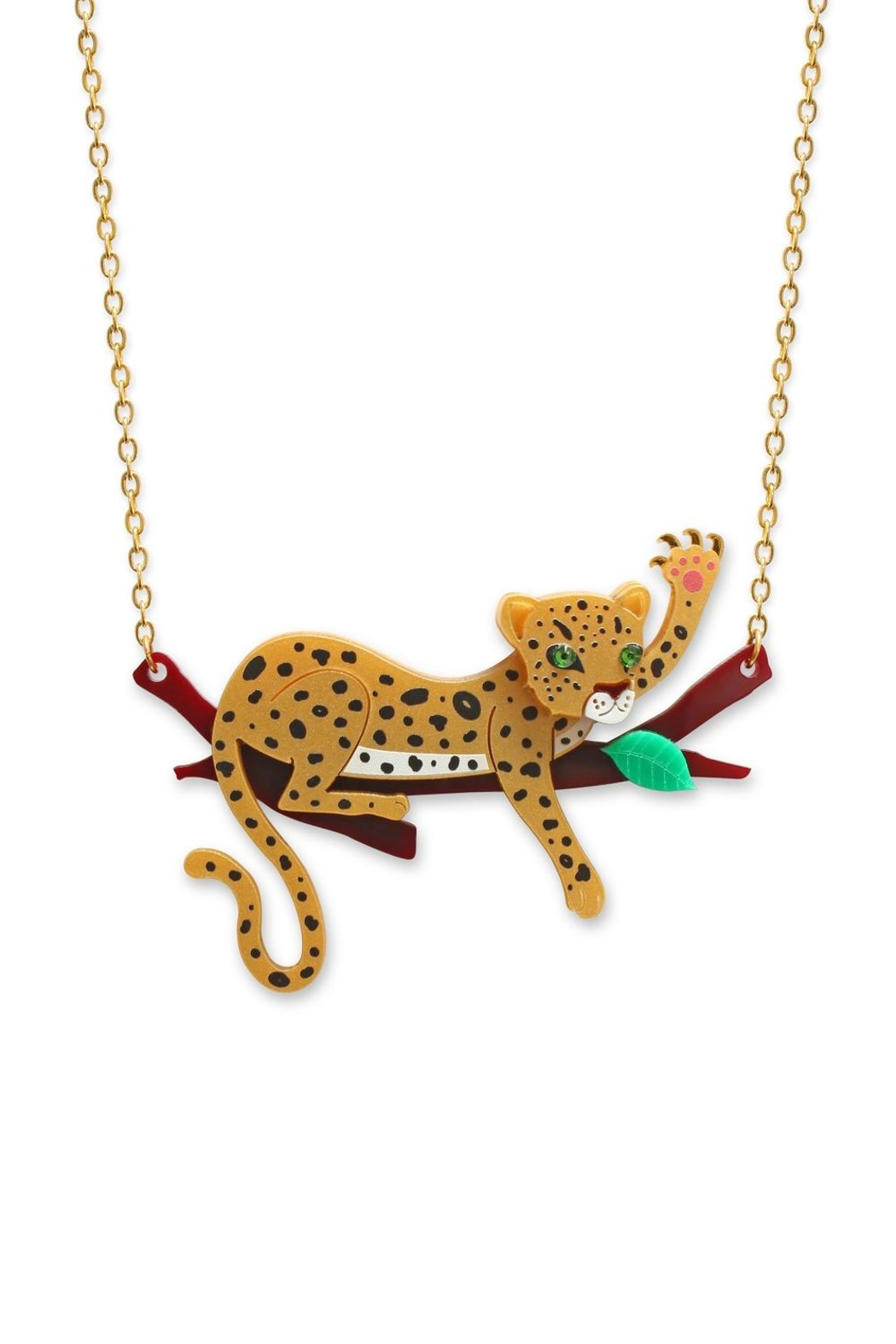 Little Moose Leopard Branch Necklace - Front Cropped Image
