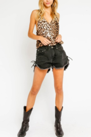 Olivaceous  Leopard Bubble Bodysuit - Product Mini Image