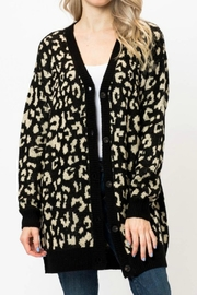 Love Tree Leopard Button Cardigan - Product Mini Image