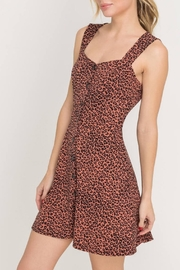 Lush Clothing  Leopard Button-Down Dress - Product Mini Image