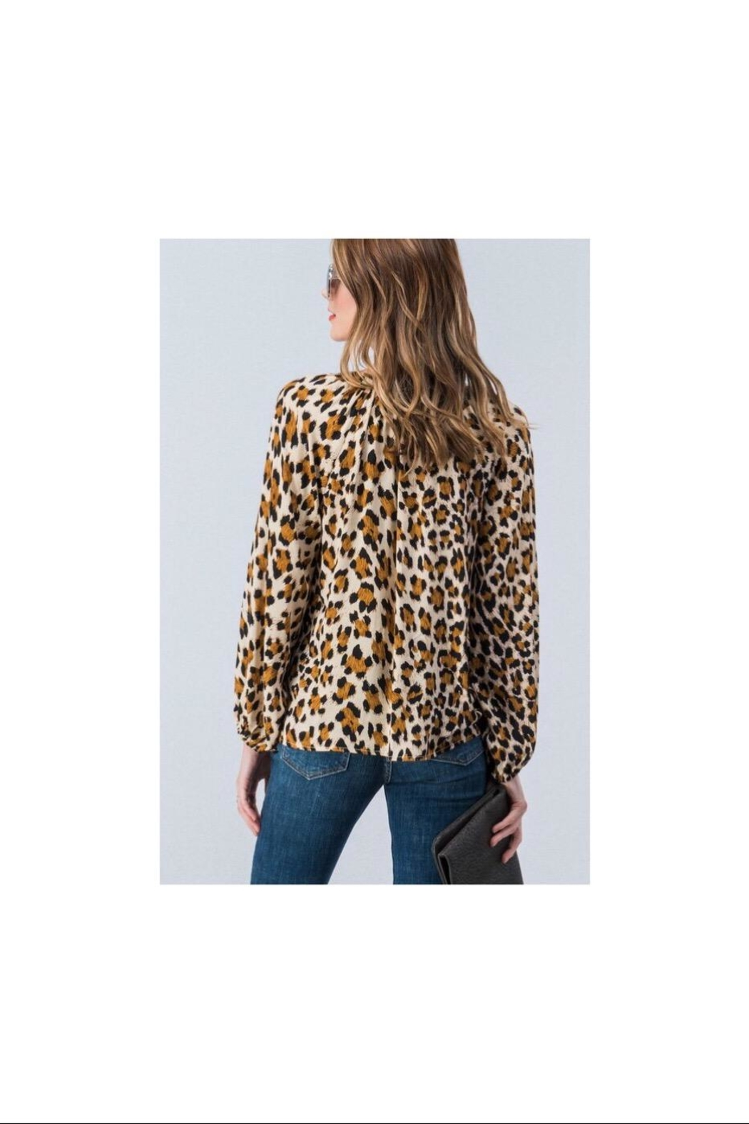 Trend:notes Leopard Button Down - Side Cropped Image