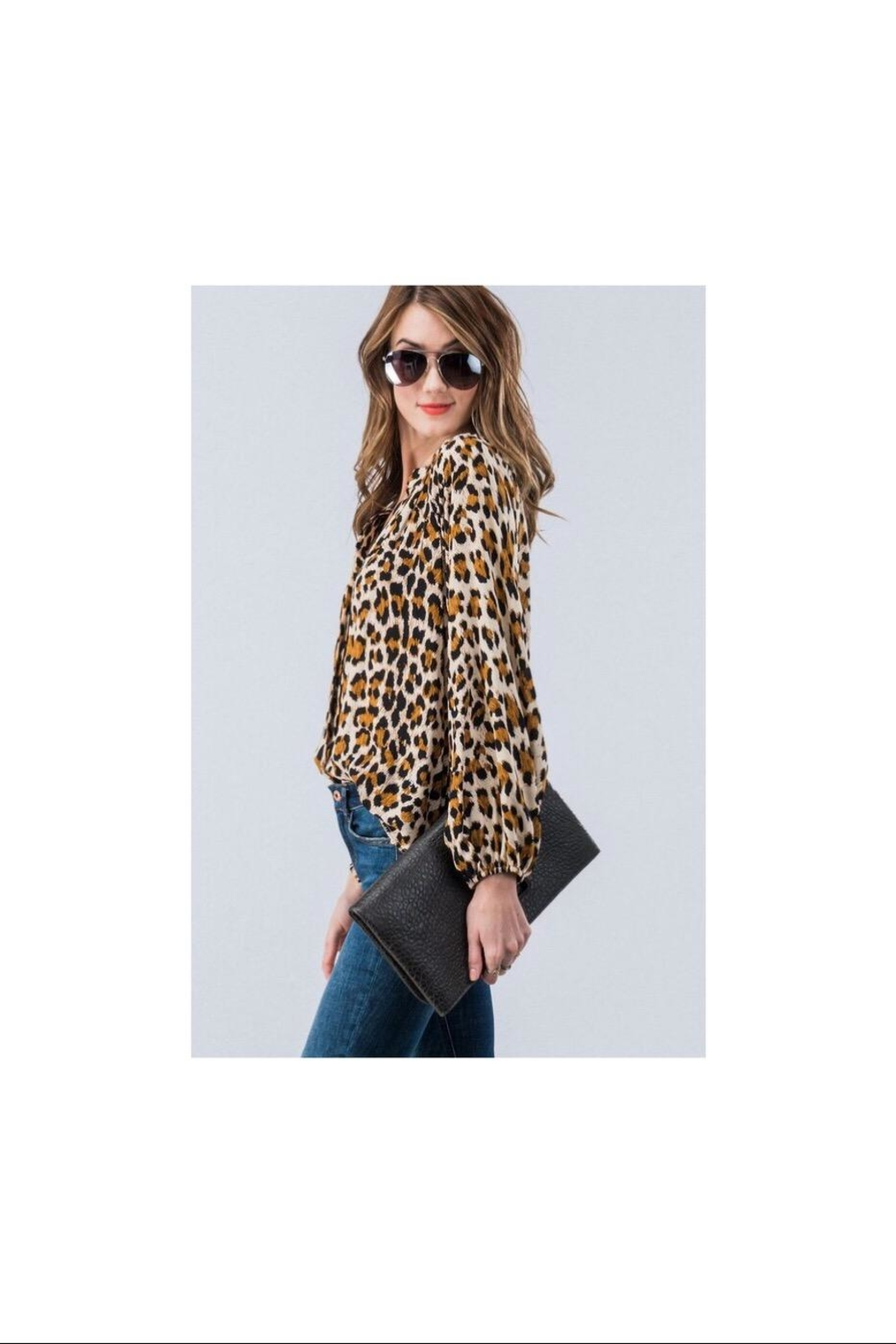Trend:notes Leopard Button Down - Front Full Image