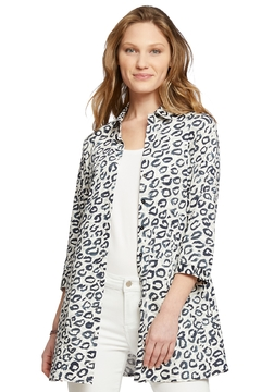 Nic + Zoe Leopard Button Down Shirt - Product List Image