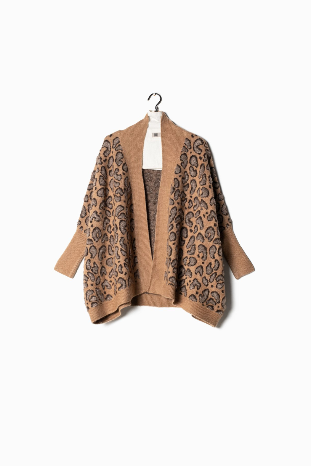 Look by M  Leopard Cape Cardigan - Main Image