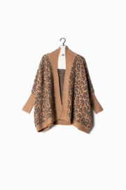 Look by M  Leopard Cape Cardigan - Front cropped