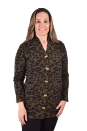 True Blue Clothing Leopard Cardigan - Product Mini Image