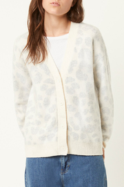 French Connection LEOPARD CARDIGAN SWEATER - Front cropped