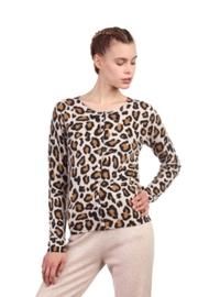 Not Shy Leopard Cashmere Sweater - Product Mini Image
