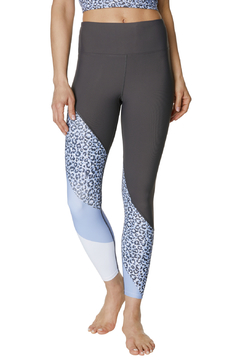 Shoptiques Product: Leopard Colorblock 7/8 Leggings
