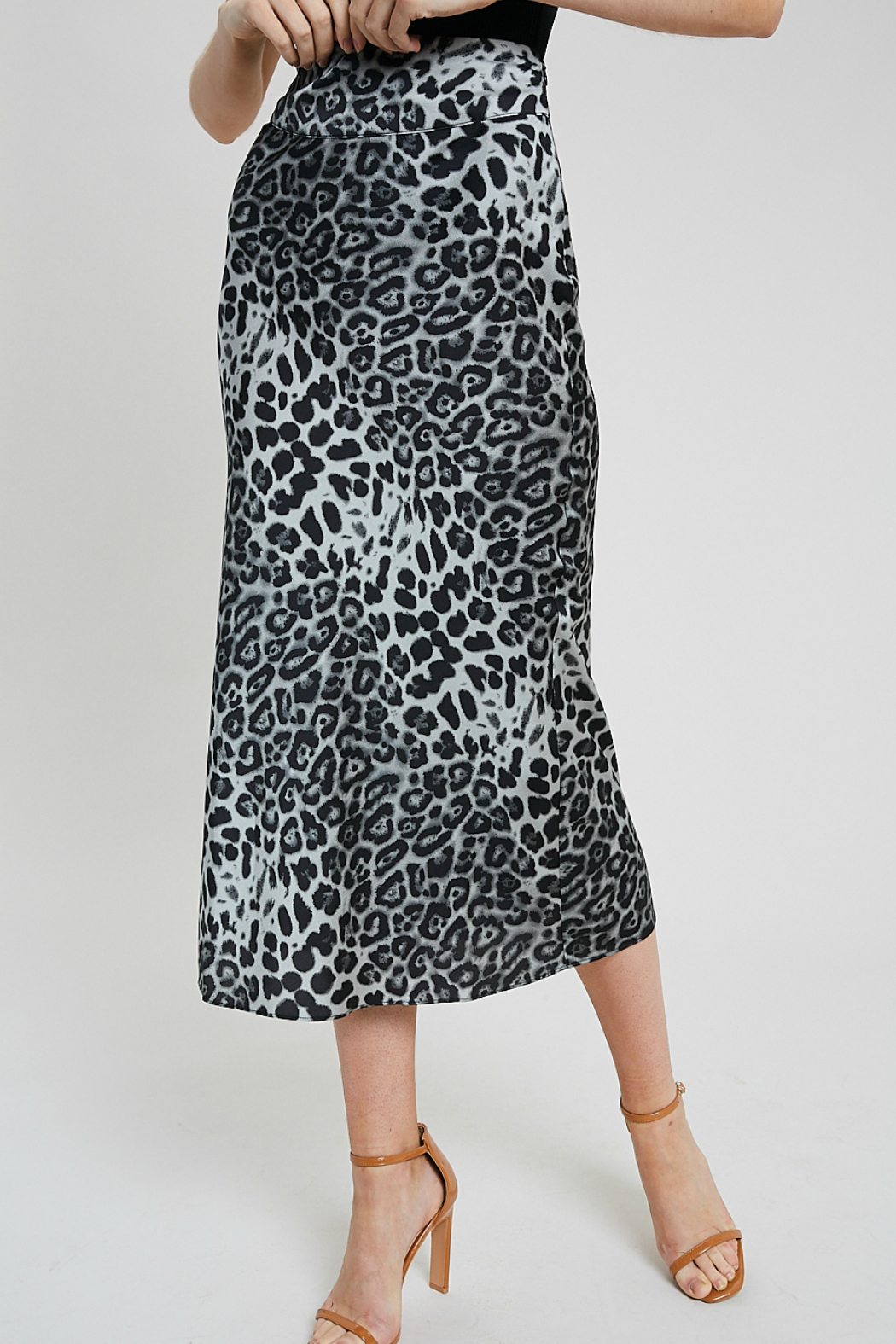 Wishlist Leopard combo skirt - Main Image