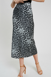 Wishlist Leopard combo skirt - Front cropped