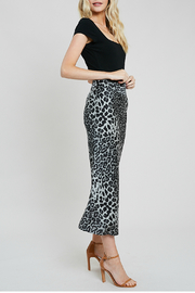 Wishlist Leopard combo skirt - Front full body