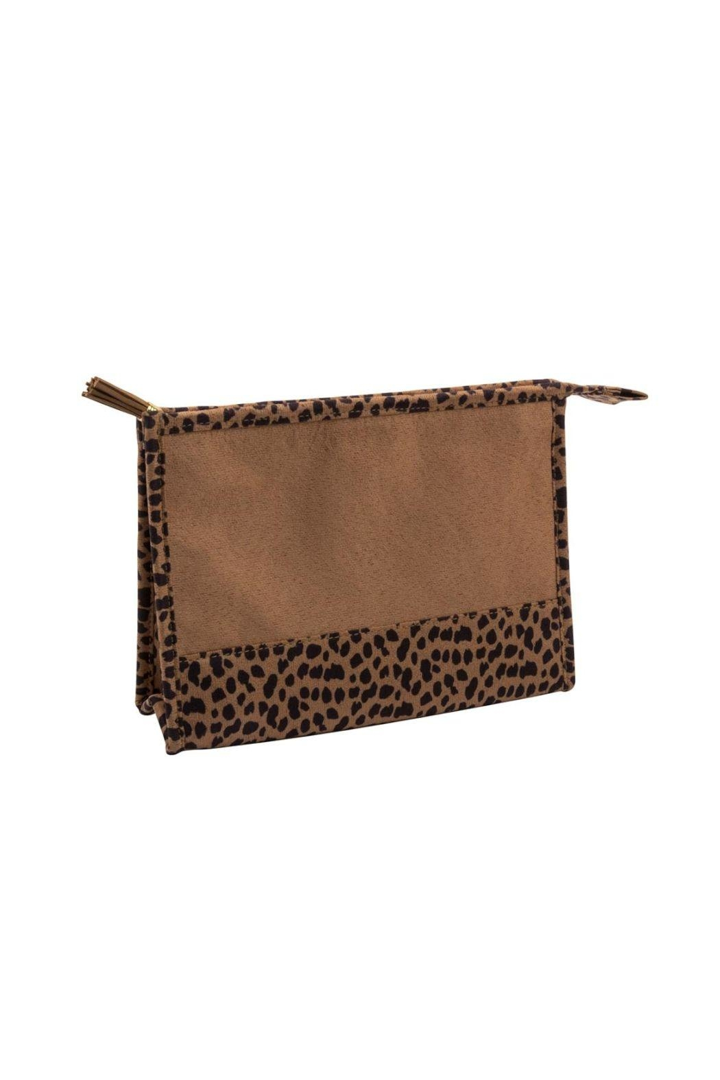 Mainstreet Collections Leopard Cosmetic Bag - Main Image