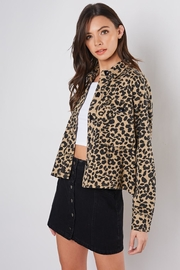Mustard Seed Leopard Crop Jacket - Front cropped