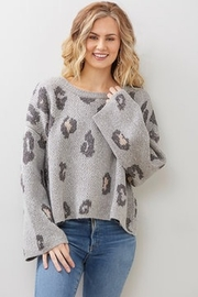By Together Leopard Cropped Sweater - Product Mini Image