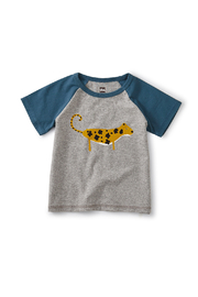 Tea Collection Leopard Cub Club Raglan Tee - Front cropped