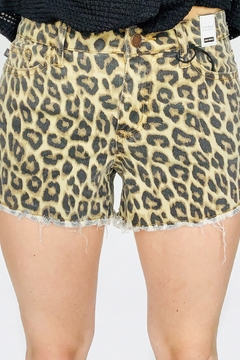 Judy Blue Leopard Cut Off Shorts - Product List Image