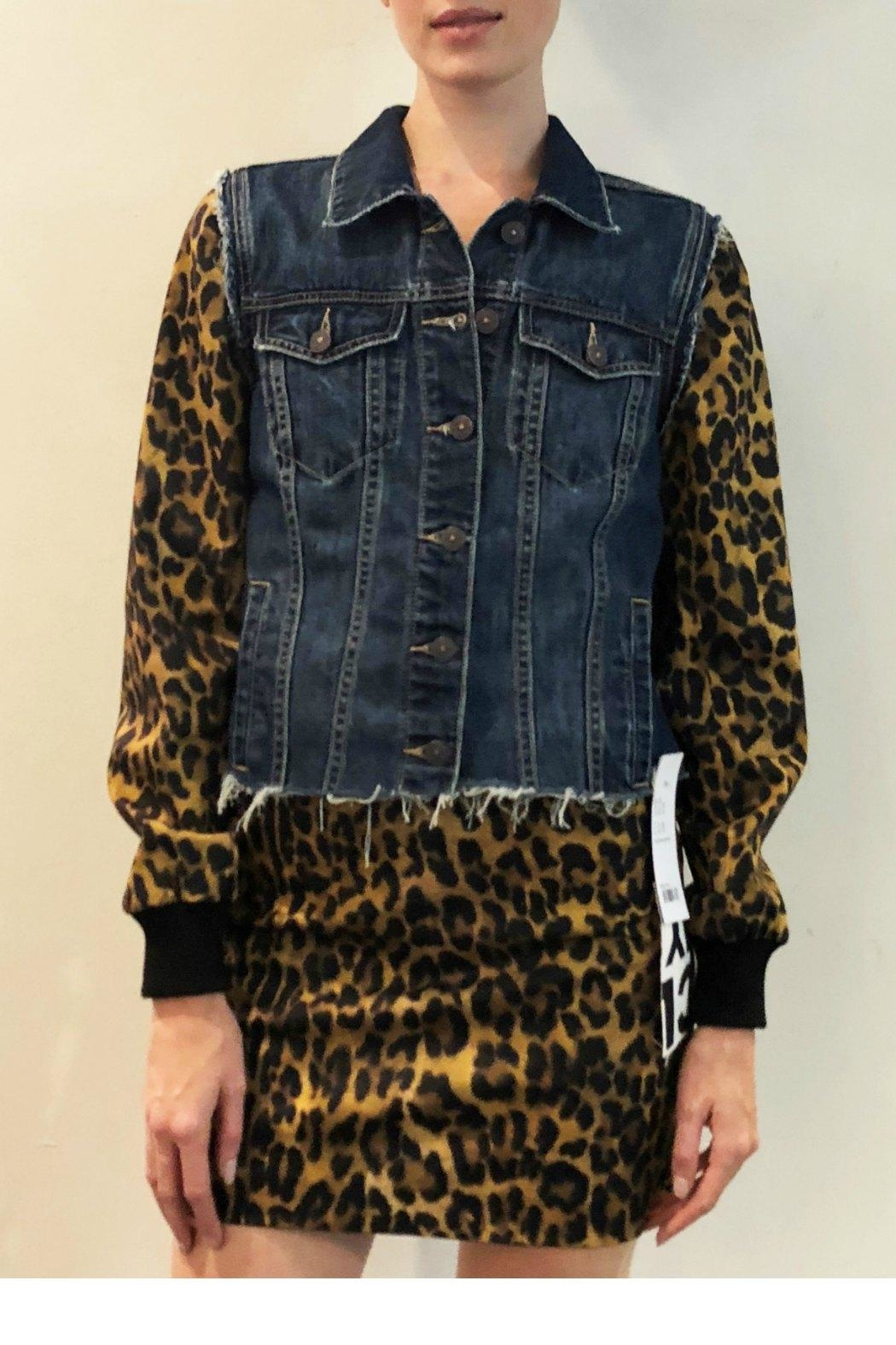7037de65dc9bbc Nicole Miller Leopard Denim Jacket from New Hampshire by Stiletto ...