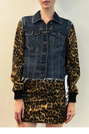 Nicole Miller Leopard Denim Jacket - Product Mini Image