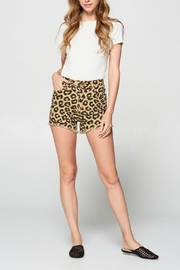 Pretty Little Things Leopard Denim Shorts - Product Mini Image