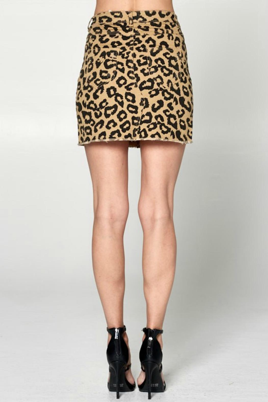 26bb20b0be9f7b Pretty Little Things Leopard Denim Skirt from New Hampshire — Shoptiques