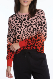 525 America Leopard Dip Dye Pullover - Product Mini Image