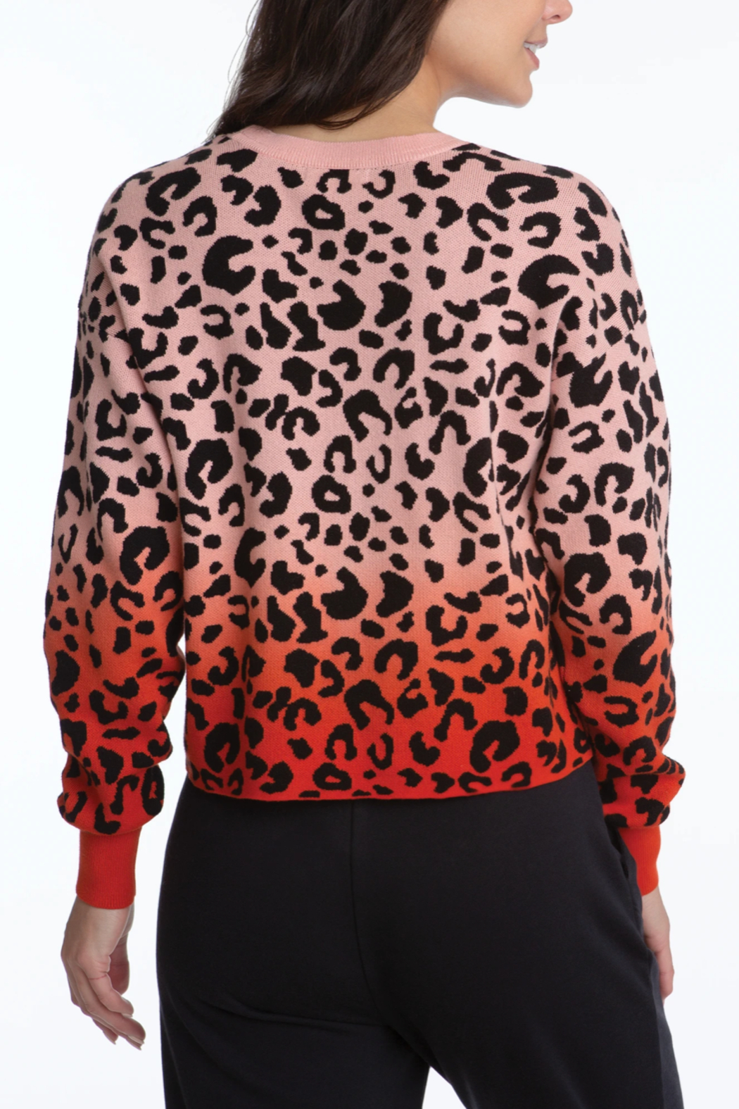 525 America Leopard Dip Dye Pullover - Side Cropped Image