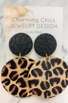 Charming Chics Leopard Disc Earrings - Alternate List Image