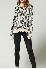 FATE by LFD Leopard Distressed Sweater - Product Mini Image