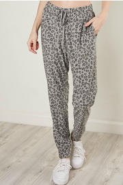 Mustard Seed Leopard drawstring joggers - Front cropped