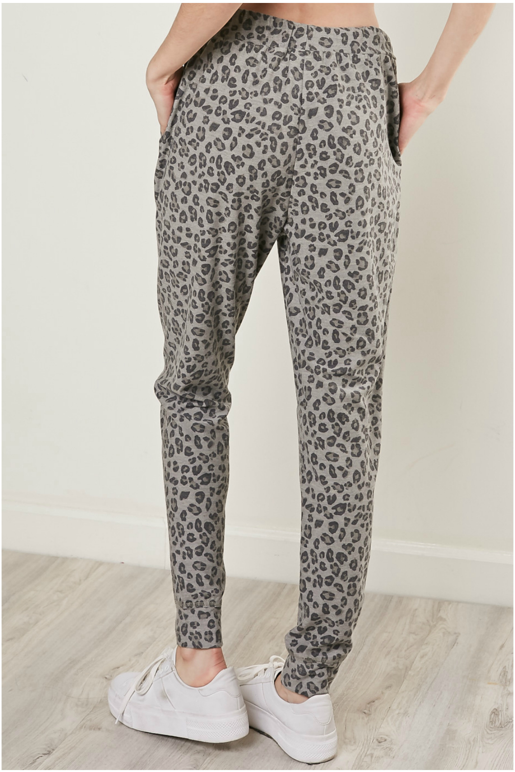 Mustard Seed Leopard drawstring joggers - Front Full Image