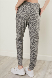 Mustard Seed Leopard drawstring joggers - Front full body