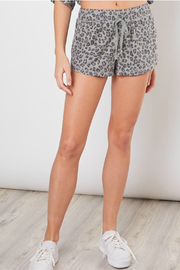 Mustard Seed Leopard Drawstring Shorts - Front cropped