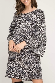 She + Sky Leopard Dress - Product Mini Image