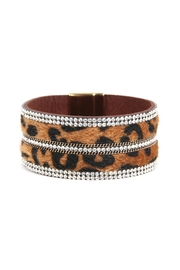 Riah Fashion Leopard-Embellished Wrap-Bracelet - Product Mini Image