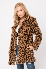 Olivaceous  Leopard Faux Fur Jacket - Product Mini Image