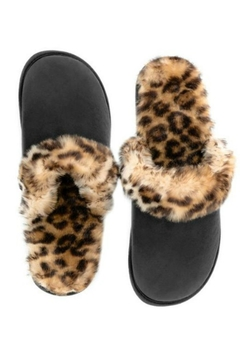Shoptiques Product: Leopard Faux-Fur Slippers