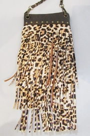 KIMBALS LEOPARD FRINGED HANDBAG - Product Mini Image