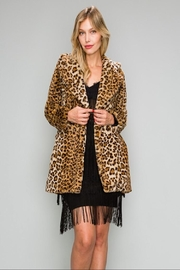 AAKAA Leopard Fur Coat - Front cropped