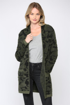 Fate Leopard Fuzzy Knit Cardigan - Product List Image