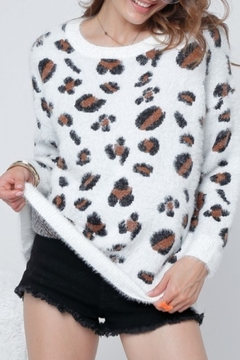 Adora Leopard Fuzzy Sweater - Product List Image
