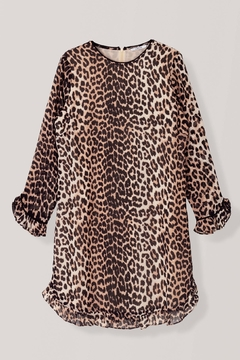 Ganni Leopard Georgette Dress - Alternate List Image