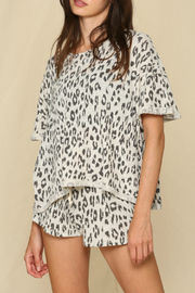 By Together  Leopard Hacci Shorts - Front full body